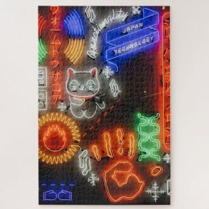 Assorted LED lights – 1000 piece jigsaw puzzle