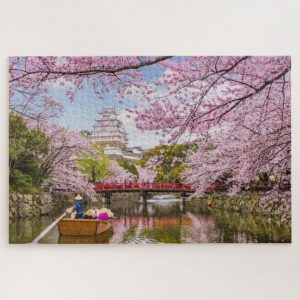 Boat Ride under Sakura in Japan – 1000 piece jigsaw puzzle