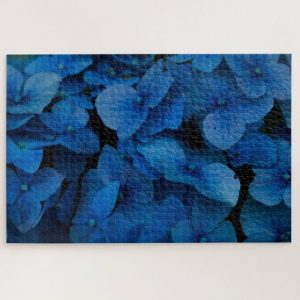 Close up Blue Hydrangeas – 1000 piece jigsaw puzzle