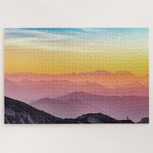 Colorful Mountain Landscape – 1000 piece jigsaw puzzle