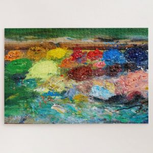Colorful Oil Paint Palette – 1000 piece jigsaw puzzle