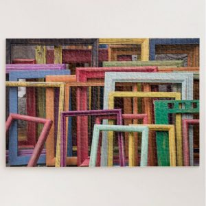 Colorful Wooden Frames – 1000 piece jigsaw puzzle
