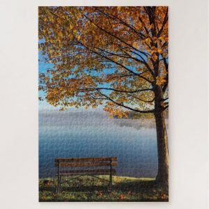 Empty Bench Looking out to Sea – 1000 piece jigsaw puzzle
