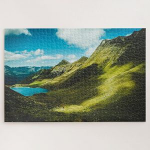 Lush Green Mountainside – 1000 piece jigsaw puzzle