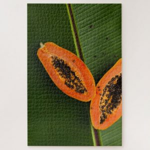 Papaya on Leaf – 1000 piece jigsaw puzzle