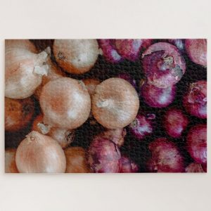 Red and White Onion Bulbs – 1000 piece jigsaw puzzle