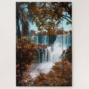Stunning Waterfall in the Distance – 1000 piece jigsaw puzzle