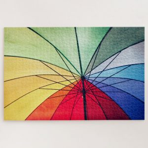 Underneath the Colorful Umbrella – 1000 piece jigsaw puzzle